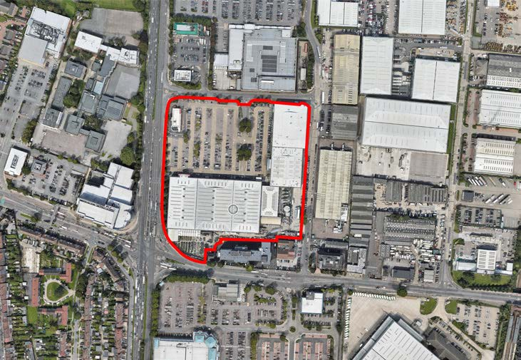 Colosseum Retail Park Development in Enfield - Aerial Shot